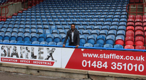 Stafflex has joined Huddersfield Town Football Club's Terrier Brand Builder Package for the 2018-19 season