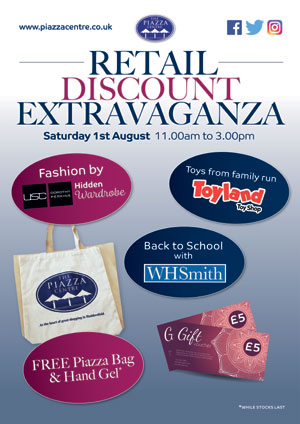 Piazza Shopping Centre Retail Discount Extravaganza