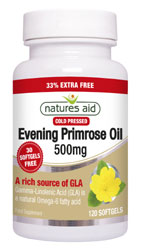 Natures Aid Evening Primrose Oil, J Dodd & Co. Huddersfield