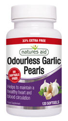 Natures Aid Garlic Pearls, J Dodd & Co. Huddersfield