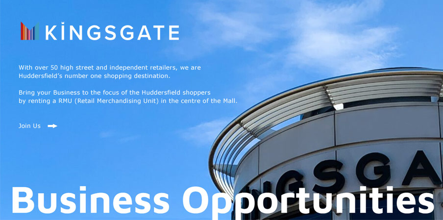 Retail Business Opportunities at Kingsgate Shopping Centre Huddersfield