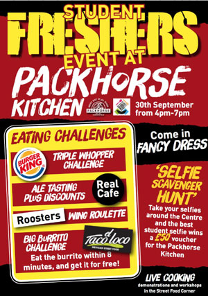 Packhorse Centre Huddersfield Student Freshers Event