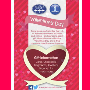 Piazza Centre Huddersfield,  Valentine's Day Shopping Celebrations
